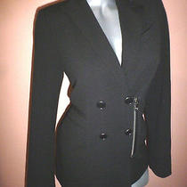 Express 128 Women's Black Double Breasted Military Jacket Blazer Size Small Photo