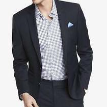 Express 198 Slim Fit Photographer Wool Blend Suit Jacket Blazer Navy 40 R Photo