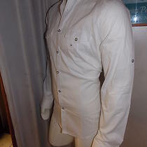 Express 1mx Fitted Men's Collection Casual White Button Down Shirt Size M  Photo