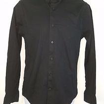 Express 1mx Men's Dress Shirt Extra Slim Fit Size Medium Black    Free Shipping Photo