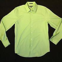 Express 1mx Men's Dress Shirt- Modern Fit- Lime Green- Medium Photo