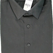 Express 1mx Men Size S 14/14.5 Fitted Black Dress Shirt Nwt (Gs 6) Photo