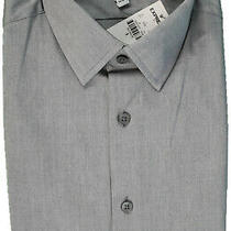 Express 1mx Men Size S 14/14.5 Fitted Gray Dress Shirt Extra Slim Nwt (Gs 6) Photo