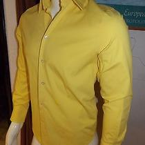 Express 1mx Modern Fit Men's Collection Yellow Button Down Shirt Size S  Photo