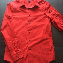 Express 1mx Modern Fit Red Button Down Shirt S Men's Photo