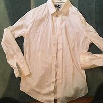Express 1mx White Fitted Men's Dress Shirt Size M / 15-15-1/2 Photo