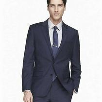 Express 298 Modern Fit Producer Wool Blend Navy Suit Blazer Jacket 38 Short  Photo