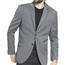 Express  298 Producer Modern Fit Wool Blend Gray Suit Blazer Jacket 40 Long Photo