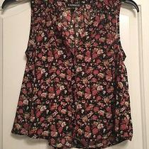 Express A84 Black Floral See Through Sleeveless Top Size Xs Photo