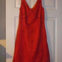 Express Adorable Junior Orange Red Beaded Threaded Sun Dress Dress 5 6 Euc  Photo