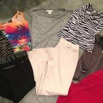 Express and Other Lot Womens Clothing Tops Size M and Pants Size 9 Photo