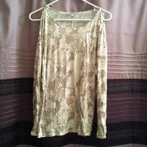 Express Animal Print Exposed Shoulder Long Sleeve Shirt - Nwt-W/gold Accent Photo