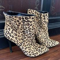 Express Animal Print Leopard Boots Height Hill Sexy Size 8 Photo