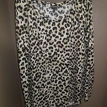 Express Animal Print Long Sleeve Shirt Size L Nwot Photo