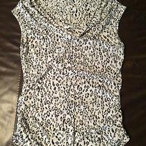 Express Animal Print Ruched Shell - Size Large Photo