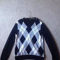 Express Argyle Sweater v-Neck Size Medium Photo