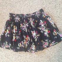 Express Back Floral Skater Style Skirt Size Large Photo
