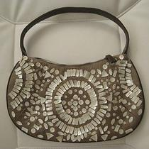 Express Bag Purse Silk Embellished With Mother of Pearls Buttons Photo