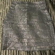 Express Bandage Skirt Size 4 Black Embossed Photo