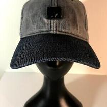 Express Baseball Cap Hat Gray/navy Strapback 100% Cotton Ns No Size Photo