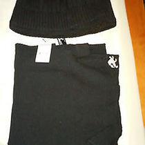Express Beanie and Scarf Set - Black Photo