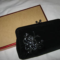Express  Beautiful Black Velvet  Clutch Bag.  New With Tag on the Box   Photo