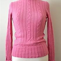 Express Beautiful Pink Turtleneck Cable Knit Sweater Womens Sz Xs Nwt Photo