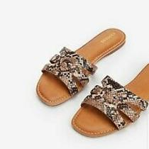 Express Bedford Slide Sandals Animal Snake Print Size 7 Brand New With Tags Photo