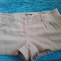 Express Beige Cuffed Dress Shorts Size 12 Photo