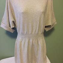 Express Beige/gold Metallic Tunic Sweater - Size M Photo