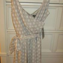 Express Belted Waist Polka Dot Dress Nwt Sz 4 Photo