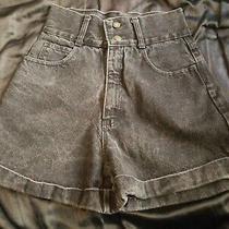 Express Black Acid Wash Hip Denim Jean Shorts Size 5/6 25