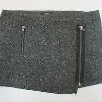Express Black and Gray Tweed Skirt Size 30 Moto Skirt Photo