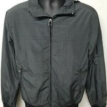 Express Black and Grey Glen Plaid Hooded Light Weight Jacket Size Small Photo