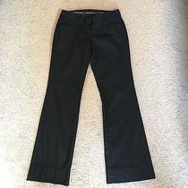 Express Black and Silver Pinstripe Editor Pants Sz 0 Photo