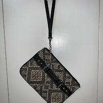 Express Black and Tan Tribal Wristlet Zip Pouch Nwot Photo