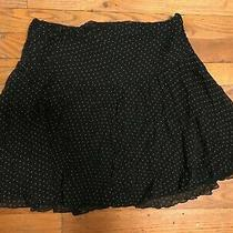 Express Black and White Polka Dot Mini Skirt Size 0 Photo