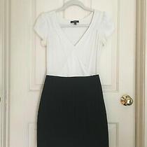 Express Black and White Short Wrap Dress Bodycon Skirt Size Xs Cocktail Dress Photo