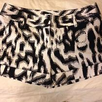Express Black and White Shorts Size 2 Photo