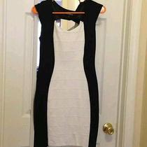 Express Black and White Silhouette Dress Nwot Size 0 Photo