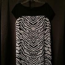 Express Black and White Zebra Print Dress Size Large Photo