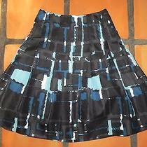 Expressblack & Aqua Full Skirt Size 0 Photo