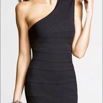 Express Black Banded One-Shoulder Dress Size M Photo