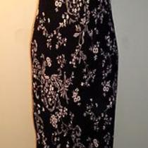 Express Black Beige Floral Print Long Maxi Dress 9 / 10 Photo