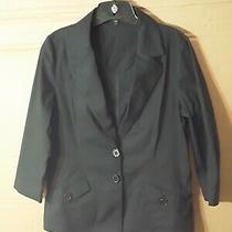 Express Black Blazer  Size 12 Lightweight No Lining Belt Loop No Belt Photo