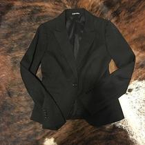 Express Black Blazer Size 4 Fitted Photo