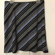 Express Black Blue Skirt Medium M Photo