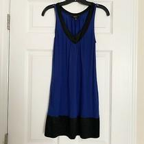 Express Black Blue Sleeveless Tank Dress Xs Photo
