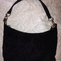 Express Black Canvas Handbag (Baguette Small) Photo