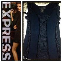 Express Black Corset With Ties Size Med Photo